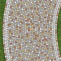 схема замощення бруківки Мозаїка