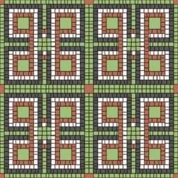 схема для бруківки Мозаїка