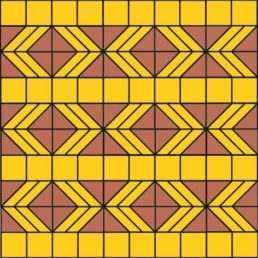 схема укладання Бруківки Трикутник