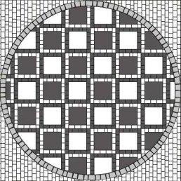 схема укладання бруківки Квадрат 15